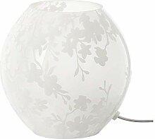 IKEA KNUBBIG - Lampe de table, blanc fleurs de