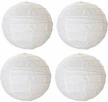 Ikea Lot de 4 abat-jours boule en papier de riz