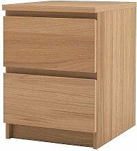 Ikea Malm–Commode 2tiroirs, Placage