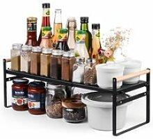 Ikkle étagère de cuisine, étagère à épices,