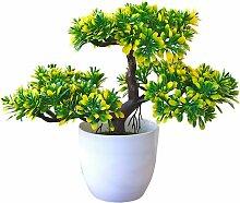 Ilovemilan - Plante artificielle en pot Ganoderma