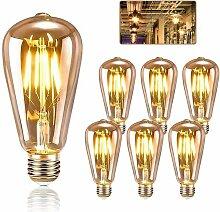 Ilovemono Lot de 6 ampoules Edison E27, ampoule