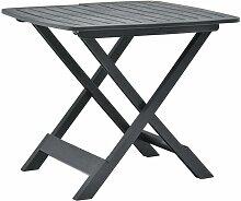 Ilovemono - Table pliable de jardin Anthracite