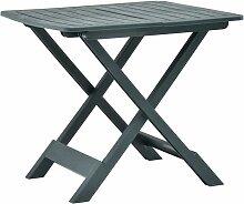 Ilovemono - Table pliable de jardin Vert 79x72x70