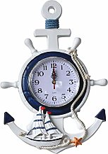 IMFFSE Style Méditerranéen Ancre Murale Horloge