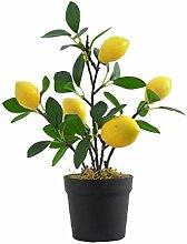 Imitation Plantes Artificielles Flowerpot Citron