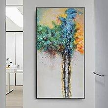 Impression sur toile décorative - Motif arbre et