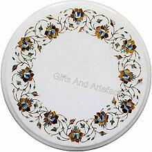 Indian Handicrafts Table basse ronde en marbre