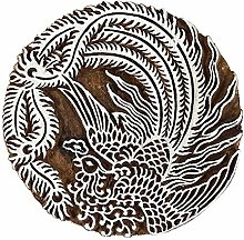 Indianbeautifulart Wooden Stamp Impression Bloc