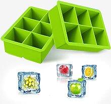 iNeibo Set de 2 Bac a Glacons Cube Moulle Glacon