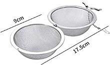 Infuseur à thé en acier inoxydable - 5 tailles -