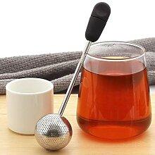 Infuseur à thé en acier inoxydable, égouttoir