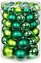 Inge-glas 15229e460mo Boule de Noël, Verre, Vert,