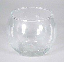 INNA-Glas Bougeoir Diana, Boule/Rond, Transparent,