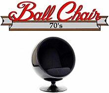 Inside75 - Fauteuil boule, Ball chair coque noir /