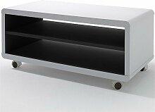 Inside75 - Meuble TV JUNAS laqué blanc et noir à