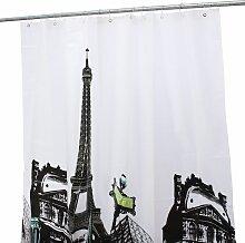 Insma - Tour Eiffel Rideau De Douche Baignoire