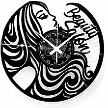 Instant Karma Clocks Horloge Murale en Vinyle pour