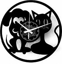 Instant Karma Clocks Vinyle Horloge Murale Animaux