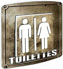 Interrupteur décoré simple va et vient Toilettes