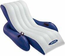 Intex - Chaise longue fauteuil gonflable de luxe