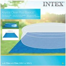 Intex tapis carré de sol pour piscine 472 x 472