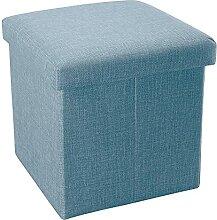 Intirilife Pouf Pliable 30x30x30 cm en Bleu