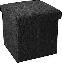 Intirilife Pouf Pliable 30x30x30 cm en Noir