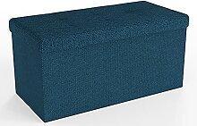 Intirilife Pouf Pliable 76x38x38 cm en OCÉAN Bleu