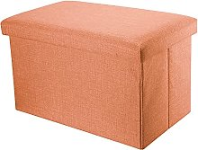 Intirilife Pouf Pliable 78x38x38 cm en Orange