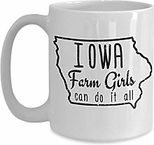 Iowa Girl Farm Girl Iowa Pride Tasse à café avec