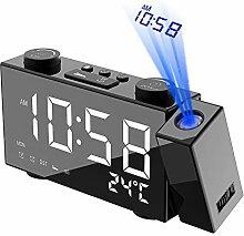 Irfora Réveil à Projection numérique LCD