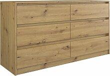 IRIS 140   Commode moderne 6 tiroirs