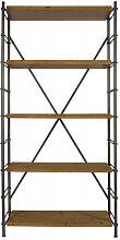 IRON - Etagere industrielle en bois et acier