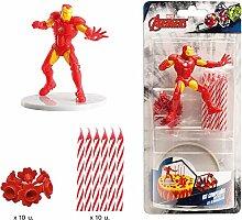 Iron Man 303005 Kit Decoration GÂTEAU Figurine,