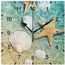 ISAOA Horloge murale silencieuse en forme