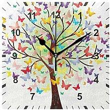 ISAOA Horloge murale silencieuse sans tic-tac -