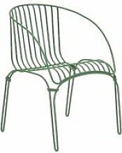 iSiMAR COLONIAL - Fauteuil en acier vert pastel