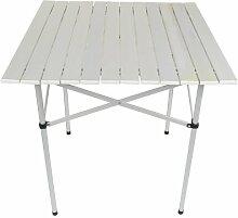 ISO TRADE Table Pliante en Aluminium • Idéale