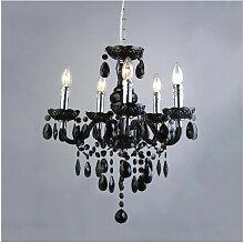 Italux - Lustre en cristal Whiz Noir 5 ampoules