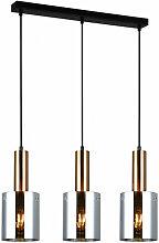 Italux - Suspension design Sardo verre fumé
