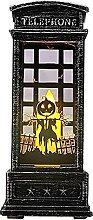 itrimaka Halloween Lanterne Flamme Bougeoir Lampe