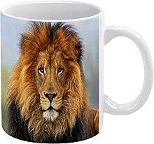 IUBBKI Tasses à thé et à café Motif lion