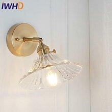 IWHD – lampe murale en cuivre de Style nordique,