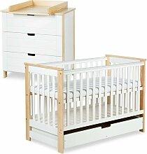 IWO Ensemble commode à langer + lit bébé