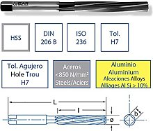 IZAR 74400-alésoir à métaux HSS DIN206B main