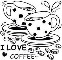 J'Aime Le Café Stickers Muraux Amovible