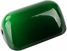 Jade vert verre banquiers lumineux couvercle de la