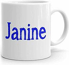 Janine Tasse à café personnalisée pour thé,
