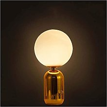 JAOSY Lampe de table boule de verre haricot